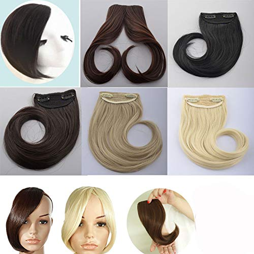 Amazon Long Clip In On Front Hair Bang Side Fringe Hair