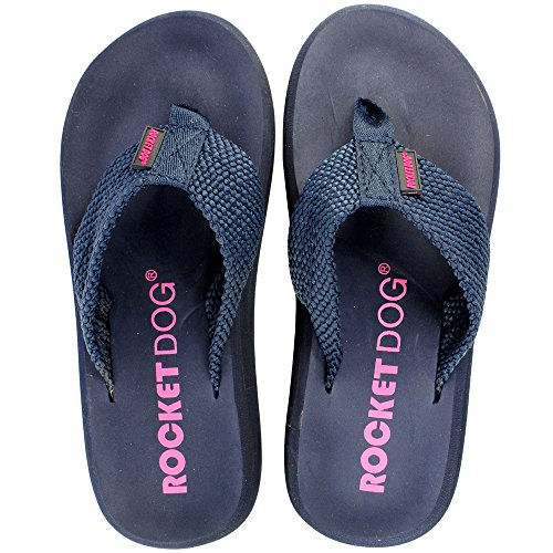 Womens Rocket Dog Sunset Flip Flop Summer Beach Holiday Sandals Navy VP4W4r
