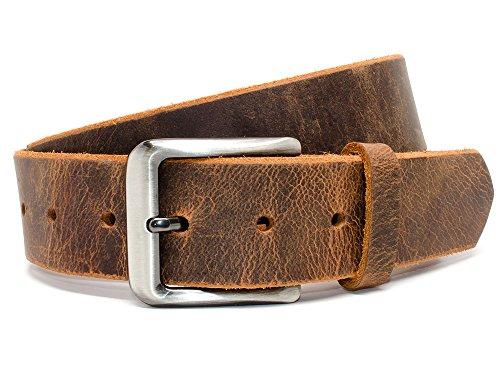 Nickel Free Roan Mountain Distressed Belt (Distressed Leather Buckle)