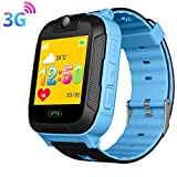 3G Kids Smartwatch - GPS LBS WIFI Position Tracker SOS Child Wrist Watches Camera Android System Phone Watch Students Gift Children for Kids Compatible with iOS/Android (SW-3G-Blue)