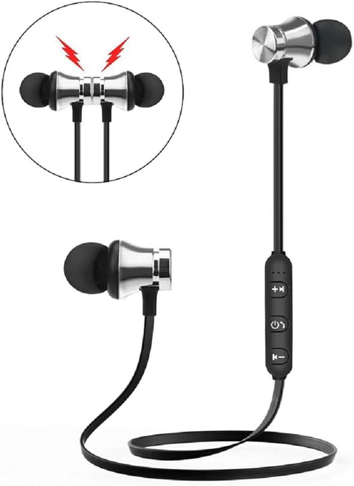 BAIHUAXIN Wireless Magnetic Bluetooth Earphone Wireless Sports Headphones in-Ear Headphones HD Stereo Headphone with Mic Headset