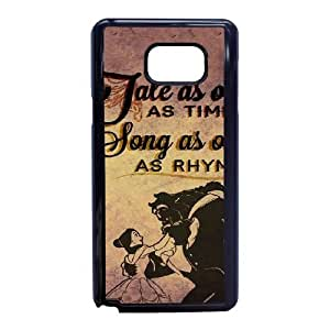 U6H26 Disney La Bella y la Bestia I0N3ON funda Samsung Galaxy Note 5 celulares funda de caso Teléfono cubren PQ7BSY3OK negro