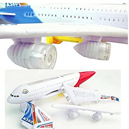 1xElectric Airplane Moving Flashing Lights Sounds Kids Boy Toy DIY Aircraft Gift