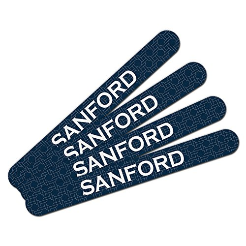 Sanford Foam (Double-Sided Nail File Emery Board Set 4 Pack I Love Heart Names Male S Sach -)