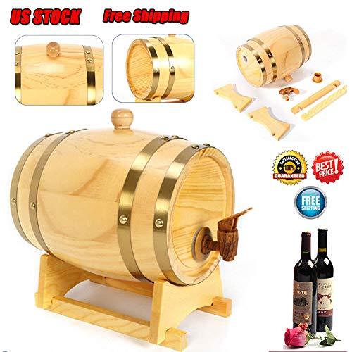 Wine Barrel, 2013newestseller 5L Oak Aging Whiskey Barrel Wine Aging Barrel Wood Timber Wine Barrel for Whiskey Rum Port Wine Keg Golden Oak Barrel, US STOCK (5L) Barrel Head Wine Rack