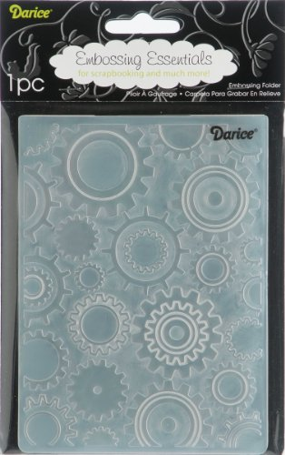 Darice 1217-54 Embossing Folders, 4.25 by 5.7-Inch, Steam Punk Design (Darice Templates)