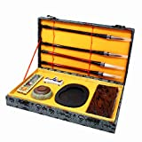 #10: Ladnis Chinese Calligraphy Set Four Treasures Brush/Inkstone/Inkstick/Paperweight for Writing/Painting Beginner and Lovers of Chinese Calligraphy with Gift Box