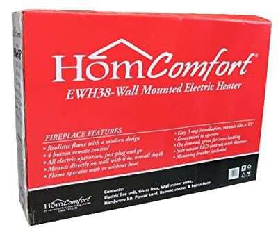 HomComfort EWH38 Widescreen Wall-Mount Electric Heater, 38-Inch