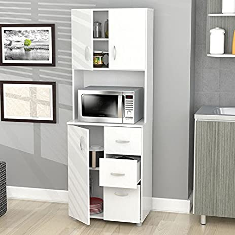 Amazon Com Inval Tall Kitchen Storage Cabinet Kitchen Dining