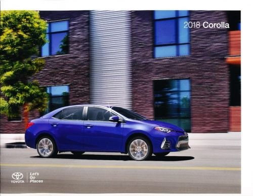 Toyota Corolla Catalog - 2018 Toyota Corolla 26-page Original Car Sales Brochure Catalog