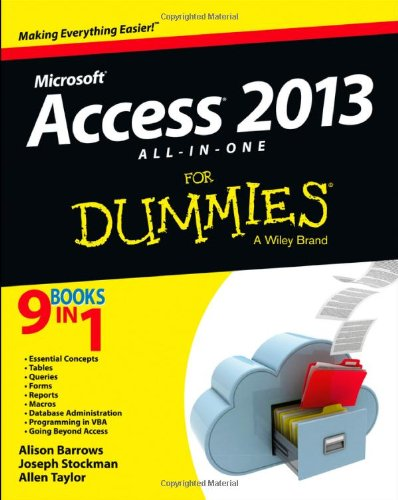 Access 2013 All-in-One For Dummies Front Cover