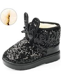 Girls Boots, Bunny Kid Boots Warm Winter Sequin Waterpoof Outdoor Snow Boots (Toddler/Little Kids)
