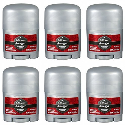 Old Spice Swagger Red Zone Collection Anti-Perpirant & Deodorant 0.5 Oz Travel Size (Pack of 6)