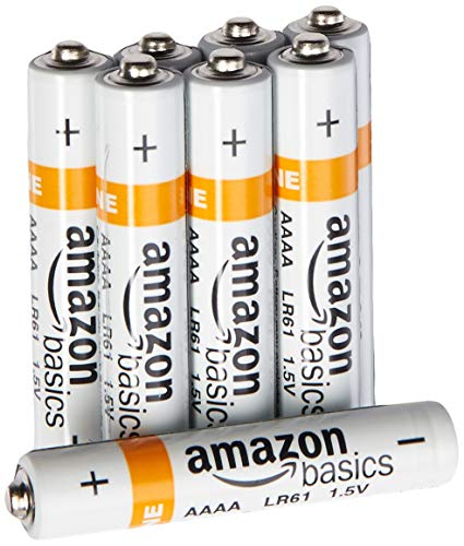 2 Batteries Alkaline Aaa (AmazonBasics AAAA Everyday Alkaline Batteries (8-Pack))