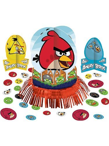 Amscan Unisex Adult Angry Birds Table Decorating Kit Multi-colored Medium -