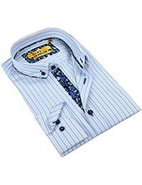 "<span class=""a-offscreen"">[Sponsored]</span>Men's Tailored Fit Floral Trim Buttoned Down Dress Shirt"