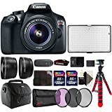 Canon EOS Rebel T6 Digital SLR with 18-55mm IS II Lens , 288 LED Light and Accessory Kit