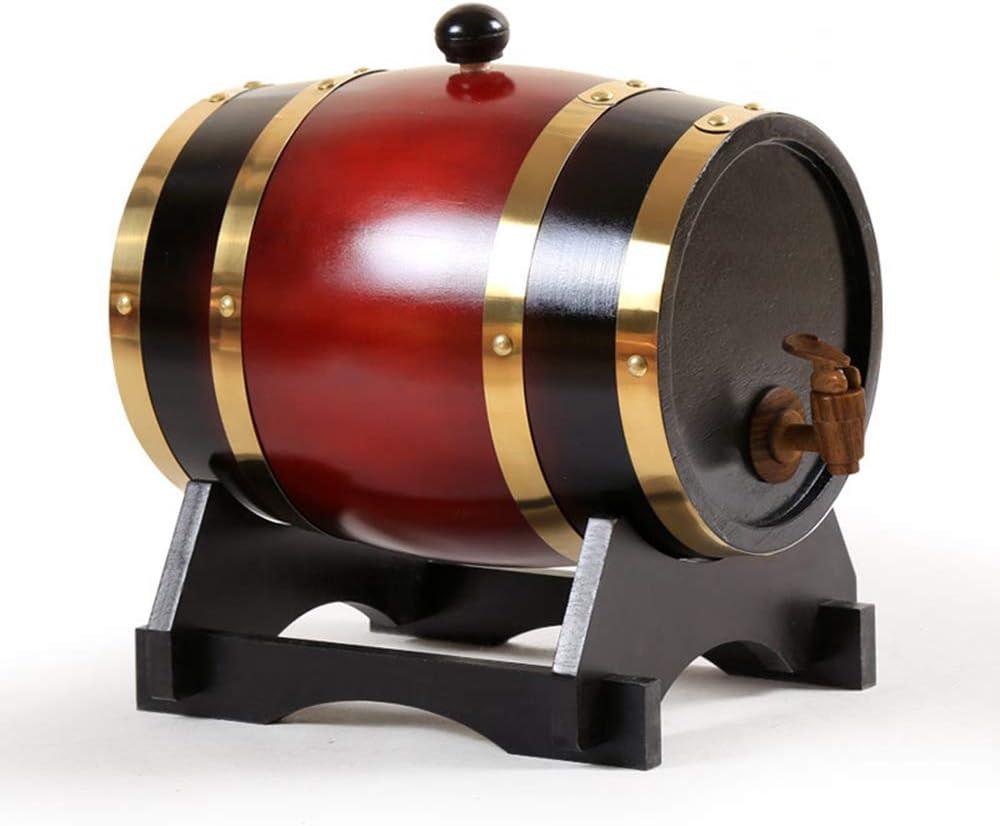 ZXPYZ Roble Barril De Vino - Cerveza, Whisky, Ron Puerto De Barriles De Roble del Vino De Madera Viejos, Roble - Retro Color 1.5L