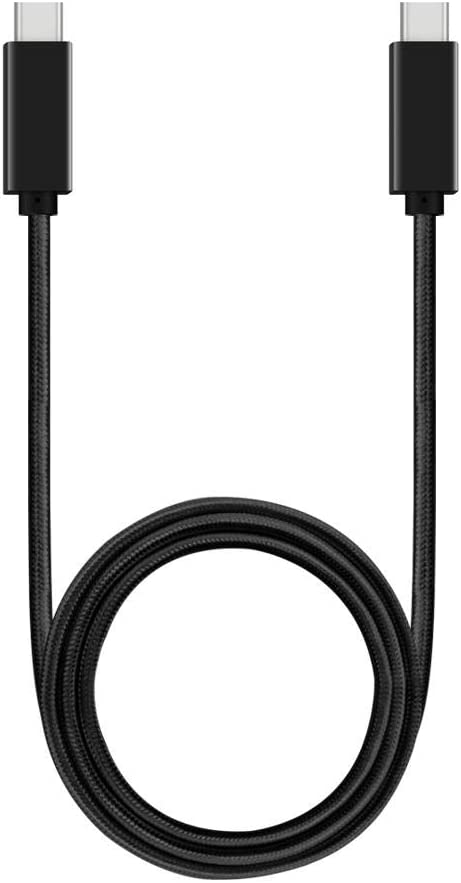 - USB-C to USB-C DT-Research DT306CR Cable 3ft BoxWave Jet Black Type C Braided 3ft Charge and Sync Cable for DT-Research DT306CR DirectSync PD Cable 100W