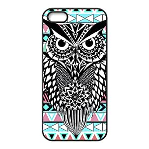 Unique black owl Cell Phone Case for iPhone 5S