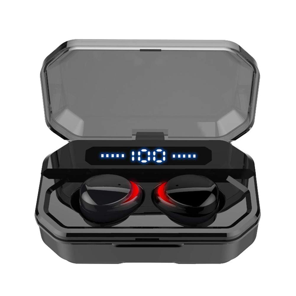 Wireless Earbuds, Bluetooth 5.0 Headphones IPX7 Waterproof Earbuds, 130 Playtime, LED Display 3500mAh Charging Case in Ear Headphones with Microphone, Deep Bass 3D Stereo Sound, Noise Canceling