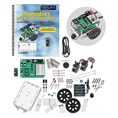 Parallax-28832 Programmable Boe-Bot Robot Kit - USB Version (non-solder) by Parallax: Toys & Games