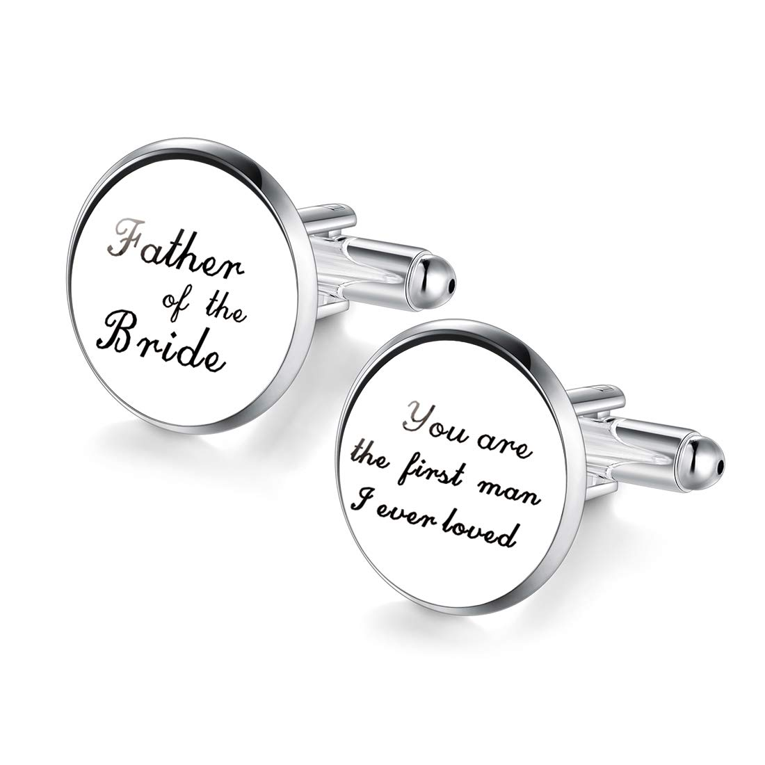 Jiayiqi Cuff Links for Father of The Bride You are The First Man i Ever Loved