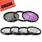 49mm 7 Piece Filter Set for Sony 18-55mm DT E-mount, 55-210mm, 16mm f/2.8, 20mm f/2.8 EMOUNT, 24mm f/1.8, FE 28mm f/2 Lens, 30mm f/2.8, 30mm f/3.5, 35mm f/1.8, 50mm f/1.8, 55mm f/1.8