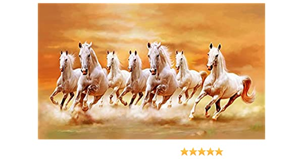 Amazon Com The Art Factory Art Factory Seven Horse Vaastu Painting