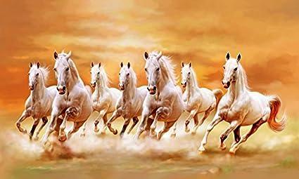 Amazoncom The Art Factory Art Factory Seven Horse Vaastu Painting