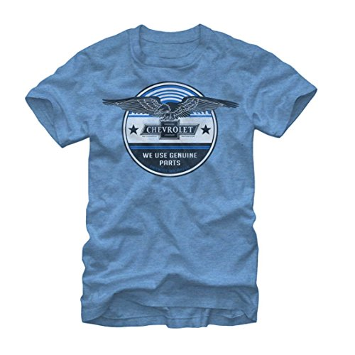 General Motors Men's Chevrolet Genuine Parts Light Blue Heather T-Shirt