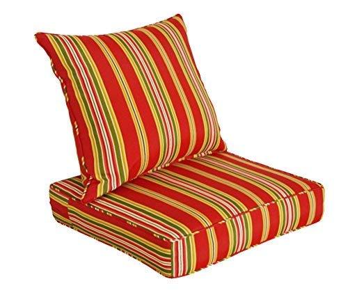 SewKer] Indoor/Outdoor Patio Deep Seat Cushion Set Stylish Bravada Salsa 3604 (Indoor Salsa Garden)