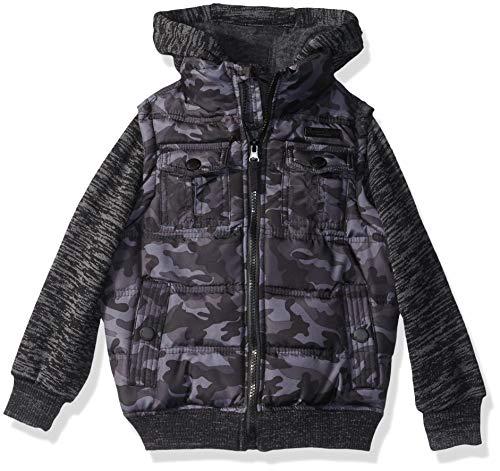 English Laundry Boys' Toddler Fashion Quilted Bomber Jacket, Camo, - Jacket Flight Camouflage Kids