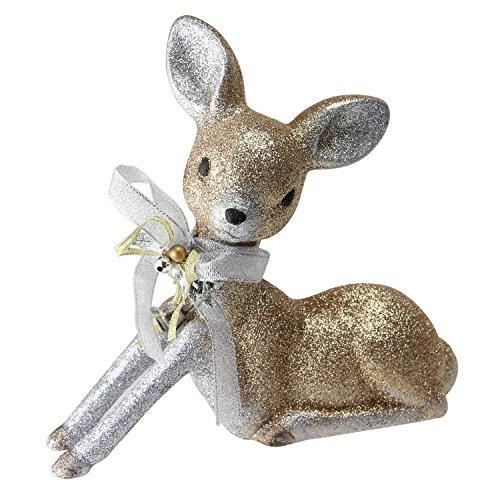 NORTHLIGHT NL00218 Sitting Deer Christmas Decoration, 8