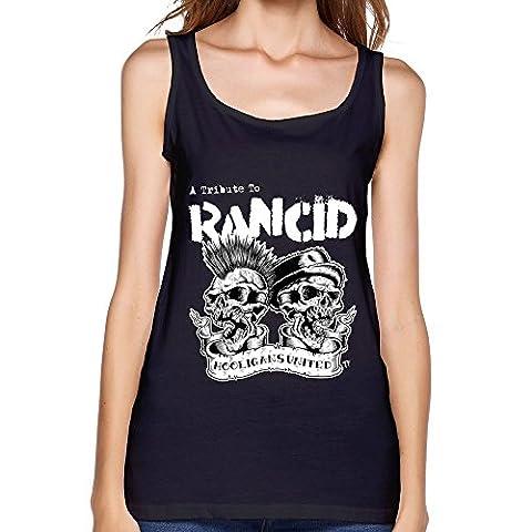 Love Rock Band Rancid Fans Logo Fashion Tank Top For Women Black (Rancid Brad Logan)