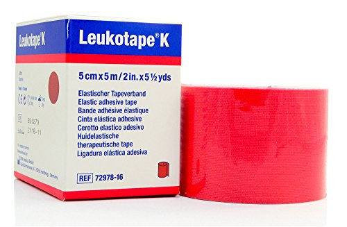 Leukotape K - Therapeutic Kinesiology Tape - 2'' x 5.4 Yard Roll Red by BSN Medical