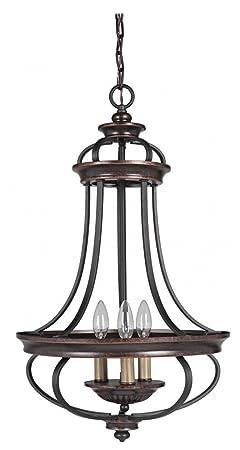 Craftmade 38733-AGTB 3 Light Foyer Chandelier