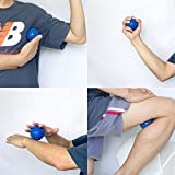 LEWONDE Deep Tissue Massager Spike Foot Massage Ball Hard Acupressure Therapy - Free E-Tutorial on Acupuncture Massage for Plantar Fasciitis,Myofascial Release, Back Shoulder Physical Therapy