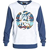 DC Mens Cyrcle 'Love You' Crew Long-Sleeve Shirt X-Large Estate Blue