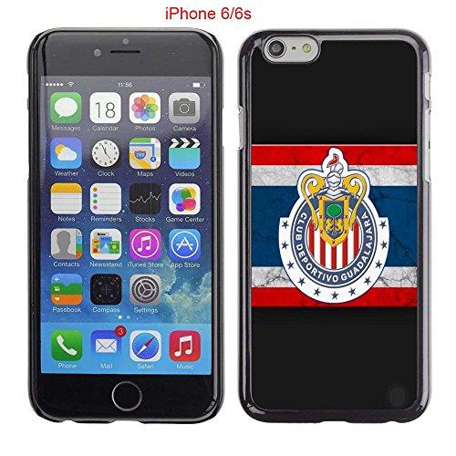 iPhone 6 Case, iPhone 6S Cases, Chivas Guadalajara CD Soccer Team Logo 08 Drop Protection Never Fade Anti Slip Scratchproof Black Hard Plastic Case