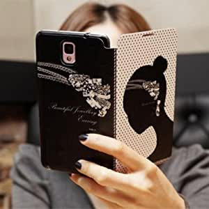 Girl Bling Fashion Wallet Diamond Flip Feature with Credit/id Card Slots/holder&strap PU Leather Case Cover For Smart Mobile Phones ( BLU Studio 5.5S D630u ) 1