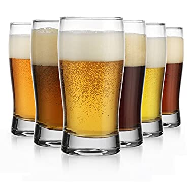 Oktoberfest Set of Six (6) Beer Glass Pilsners Beer Sampler Beer Tasters