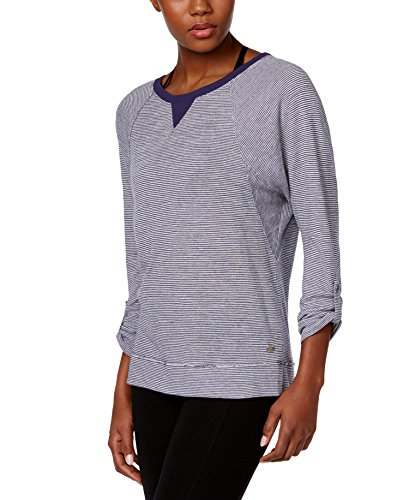 Calvin Klein Performance Women's Striped Thermal Top by Calvin Klein