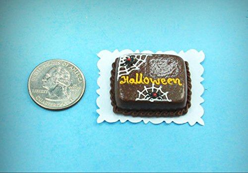 1:12 Scale Dollhouse Miniature Halloween Sheet Cake with