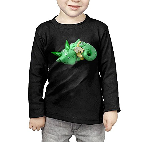 ZheuO Boys & Girls Baby Green Dragon Soft 100% Cotton Tee Unisex Black 5-6 Toddler