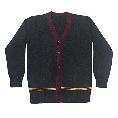 WOTOGOLD Cosplay Costumes Mens Womens Sweater Fall and Winter Waistcoat Cardigan Red, Medium (Hufflepuff Robes)