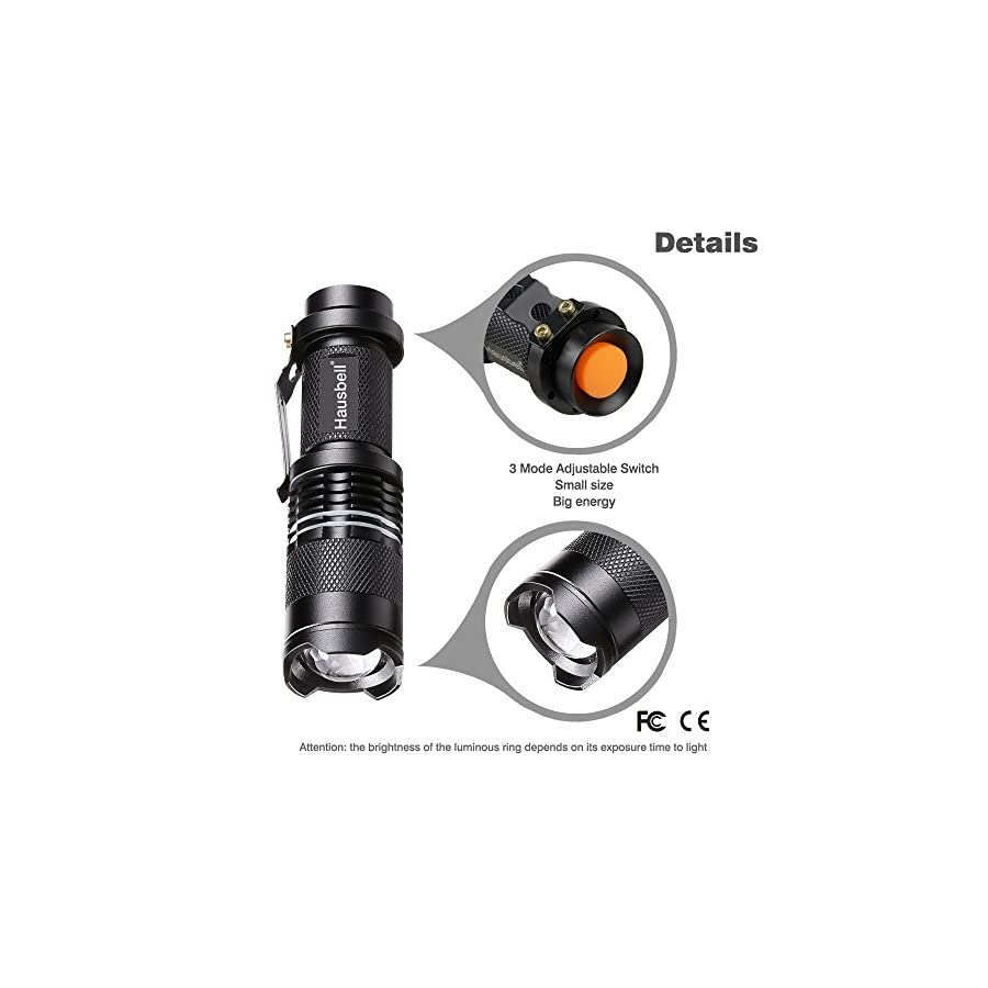 Hausbell 7W Ultra Bright Mini LED Flashlight