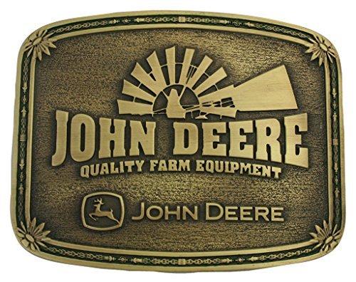 Montana Silversmiths Men's John Deere Windmill Belt Buckle Brass One Size