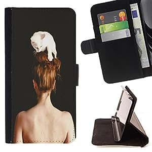 King Case - FOR Samsung Galaxy Note 4 IV - hooked for life - Prima caja de la PU billetera de cuero con ranuras para tarjetas, efectivo Compartimiento desmontable y correa para la mu?eca