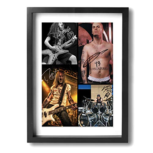 TiaKudy Pantera Music Band Rock Canvas Prints Modern Home Decor For Living Room Office Kitchen Stretched And Framed 12 X 16 Inch - Pantera Rock Music Band